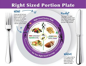 NCES Adult Right-Size Portion Plate Tear Pad