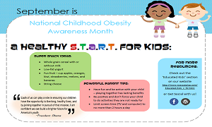 September 2012: Childhood Obesity Awareness Month