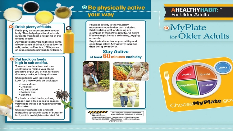myplate for older adults tri fold brochure myplate for older adults tri